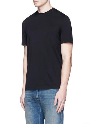 Front View - Click To Enlarge - Maison Margiela - Neck strap cotton T-shirt