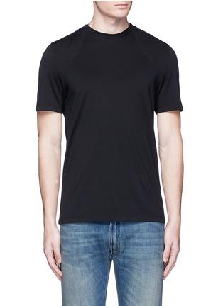 Main View - Click To Enlarge - Maison Margiela - Neck strap cotton T-shirt
