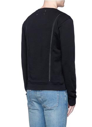 Back View - Click To Enlarge - Maison Margiela - Double zip sweatshirt