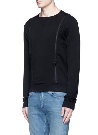 Front View - Click To Enlarge - Maison Margiela - Double zip sweatshirt