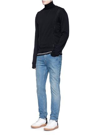Figure View - Click To Enlarge - Maison Margiela - Double zip sweatshirt
