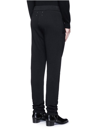Back View - Click To Enlarge - MAISON MARGIELA - Rib cuff jogging pants