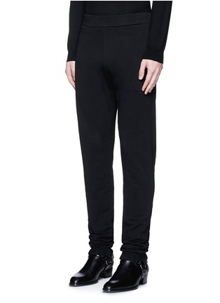Front View - Click To Enlarge - MAISON MARGIELA - Rib cuff jogging pants