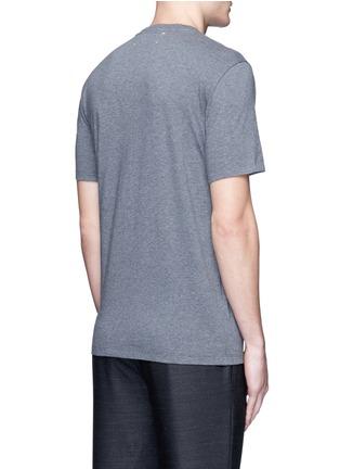 Back View - Click To Enlarge - MAISON MARGIELA - Zip chest pocket T-shirt
