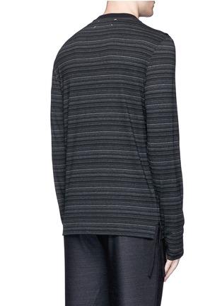 Back View - Click To Enlarge - Maison Margiela - Stripe ribbon trim T-shirt
