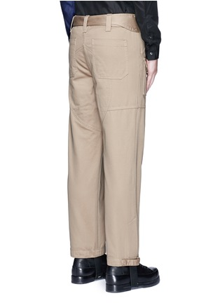 Back View - Click To Enlarge - Maison Margiela - Belted stirrup twill cargo pants