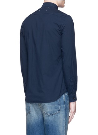 Back View - Click To Enlarge - Maison Margiela - Garment dyed cotton shirt