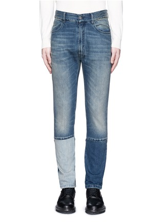 Main View - Click To Enlarge - MAISON MARGIELA - Slim fit vintage wash panelled jeans