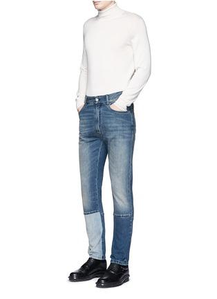 Figure View - Click To Enlarge - Maison Margiela - Slim fit vintage wash panelled jeans