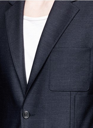 Detail View - Click To Enlarge - MAISON MARGIELA - Patch pocket wool blazer