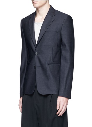 Front View - Click To Enlarge - MAISON MARGIELA - Patch pocket wool blazer