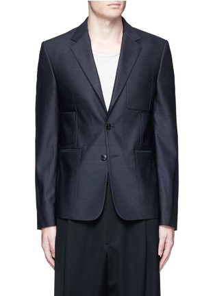 Main View - Click To Enlarge - MAISON MARGIELA - Patch pocket wool blazer