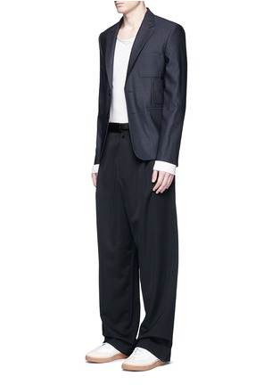 Figure View - Click To Enlarge - MAISON MARGIELA - Patch pocket wool blazer