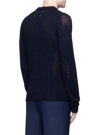 Back View - Click To Enlarge - Maison Margiela - Wool mixed gauge knit sweater