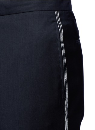 Detail View - Click To Enlarge - Maison Margiela - Topstitch outseam new wool jogging pants