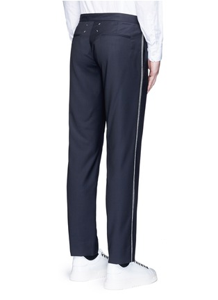 Back View - Click To Enlarge - Maison Margiela - Topstitch outseam new wool jogging pants