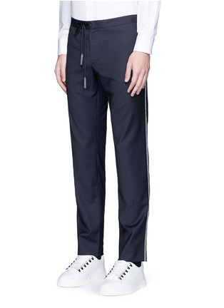 Front View - Click To Enlarge - Maison Margiela - Topstitch outseam new wool jogging pants