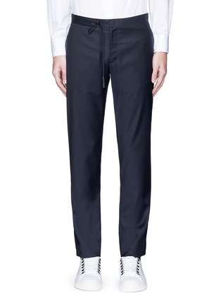 Main View - Click To Enlarge - Maison Margiela - Topstitch outseam new wool jogging pants