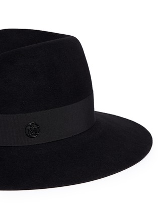 Detail View - Click To Enlarge - Maison Michel - Virginie' swirl rabbit furfelt fedora hat