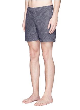Figure View - Click To Enlarge - Orlebar Brown - 'Bulldog Aboriginal' geometric print swim shorts