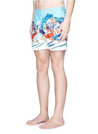 Figure View - Click To Enlarge - Orlebar Brown - 'Bulldog Hulton Getty' beach print swim shorts