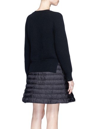 Back View - Click To Enlarge - Moncler - 'ABITO' WOOL-CASHMERE PADDED DOWN SWEATER DRESS