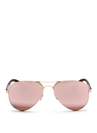 Main View - Click To Enlarge - Ray-Ban - RB3523' metal aviator mirror sunglasses