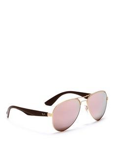Ray-Ban RB3523' metal aviator mirror sunglasses