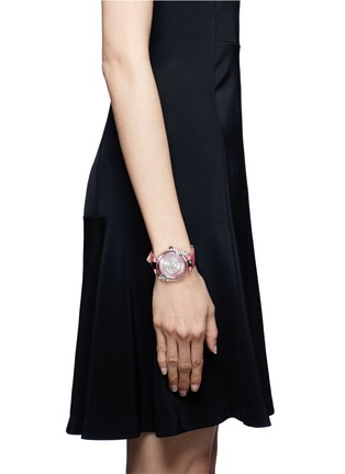 Figure View - Click To Enlarge - Galtiscopio - 'Marguerite' crystal dial watch