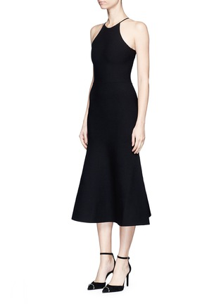 Front View - Click To Enlarge - ALEXANDER WANG - Cutout lace back knit dress