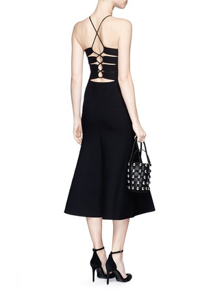 Figure View - Click To Enlarge - ALEXANDER WANG - Cutout lace back knit dress