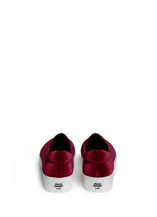 Back View - Click To Enlarge - OPENING CEREMONY - 'Cici' velvet flatform skate slip-ons