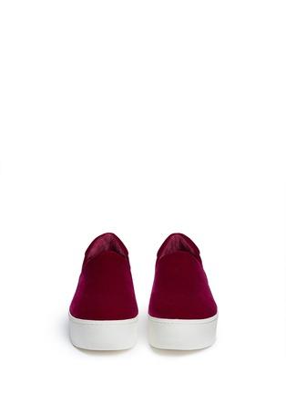 Front View - Click To Enlarge - OPENING CEREMONY - 'Cici' velvet flatform skate slip-ons