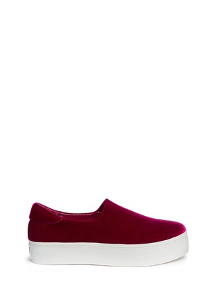 Main View - Click To Enlarge - Opening Ceremony - 'Cici' velvet flatform skate slip-ons