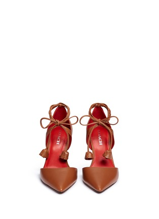 Front View - Click To Enlarge - Coach - 'Shae' leather lace-up d'Orsay pumps
