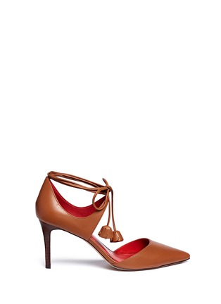 Main View - Click To Enlarge - Coach - 'Shae' leather lace-up d'Orsay pumps