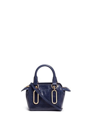 Main View - Click To Enlarge - SEE BY CHLOÉ - 'Paige' mini textured leather crossbody bag