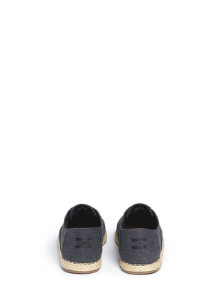Back View - Click To Enlarge - 90294 - 'Camino' canvas espadrille sneakers