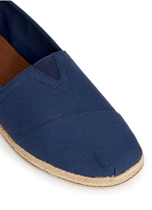 Detail View - Click To Enlarge - 90294 - 'Classic' hibiscus print canvas espadrille slip-ons
