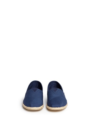 Front View - Click To Enlarge - 90294 - 'Classic' hibiscus print canvas espadrille slip-ons