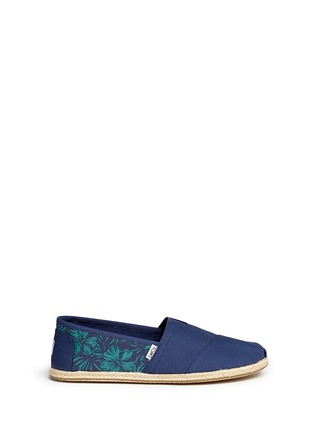 Main View - Click To Enlarge - 90294 - 'Classic' hibiscus print canvas espadrille slip-ons