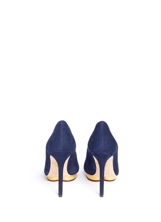 Back View - Click To Enlarge - Charlotte Olympia - 'Debbie' platform suede pumps