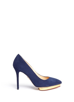 Main View - Click To Enlarge - Charlotte Olympia - 'Debbie' platform suede pumps