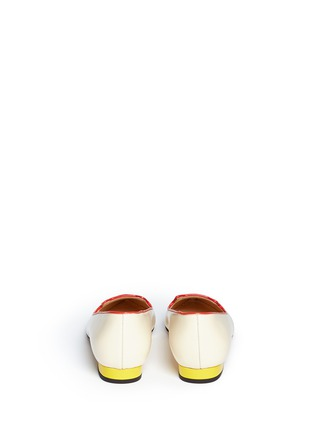 Back View - Click To Enlarge - Charlotte Olympia - 'Mid-Century Kitty' contrast heel leather flats