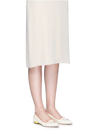 Figure View - Click To Enlarge - Charlotte Olympia - 'Mid-Century Kitty' contrast heel leather flats