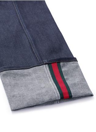 - Gucci - Rolled cuff wide leg jeans
