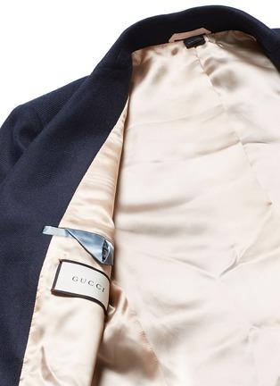 - Gucci - Bee embroidery cashmere pyjama blazer