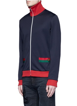 Front View - Click To Enlarge - Gucci - Bee embroidery track jacket