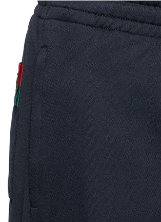 Detail View - Click To Enlarge - Gucci - Bee embroidery pocket track pants