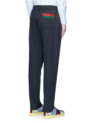 Back View - Click To Enlarge - Gucci - Bee embroidery pocket track pants